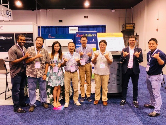 Adon group and TEPCO Ventures exhibited at the Solar Power International